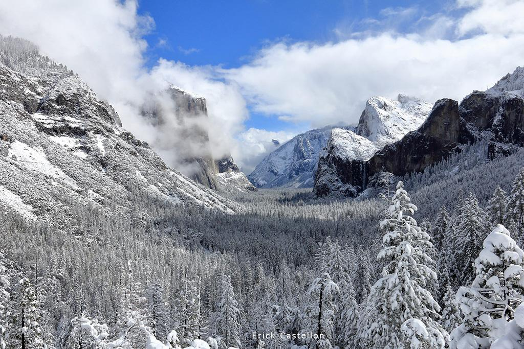 "Today's Photo Of The Day is ""Winter Blue"" by Erick Castellon. Location: Yosemite Valley, California."