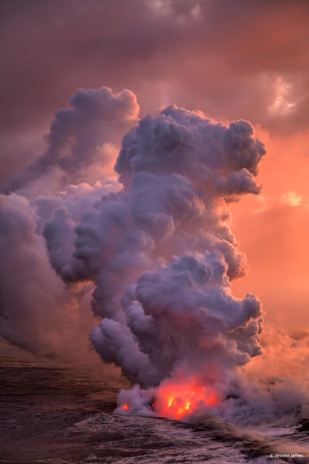 "Today's Photo Of The Day is ""Earth Maker"" by Vincent James. Location: Hawaii Volcanoes National Park."