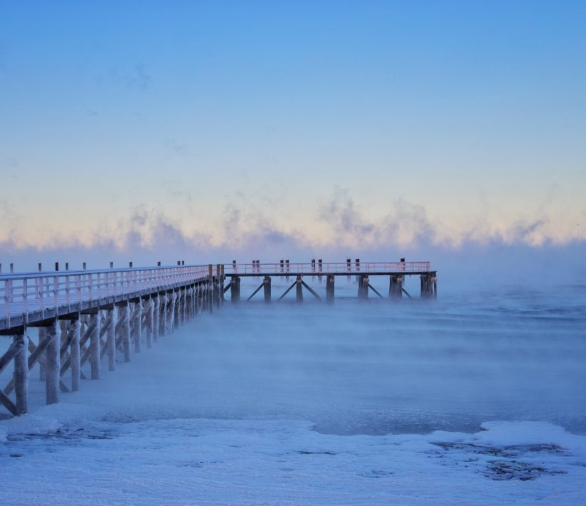 Sea Smoke over the Atlantic