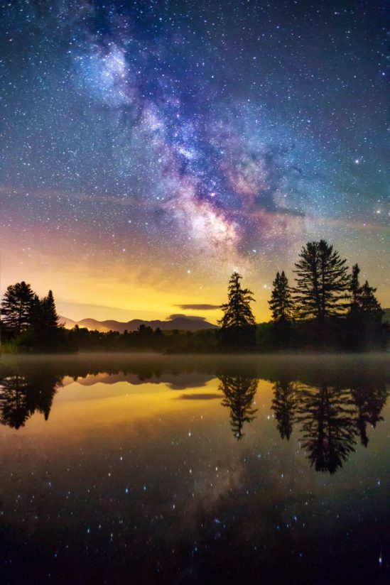 Milky Way over coffin pond