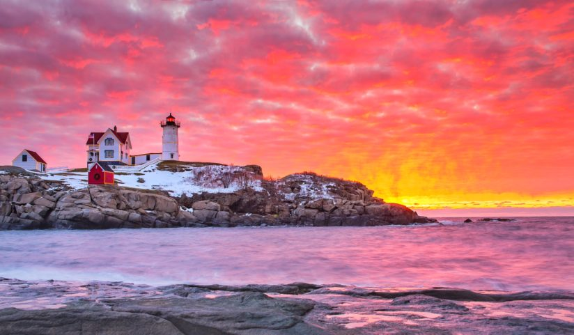 Sunrise at Nubble Light