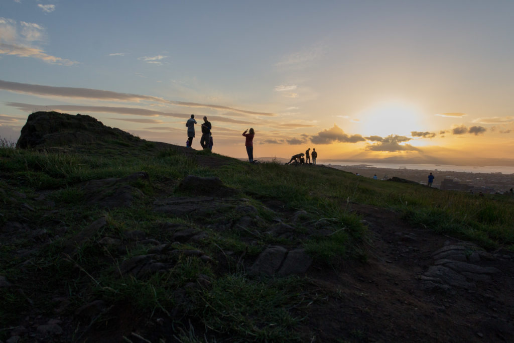 Sunset from Arthur's Seat