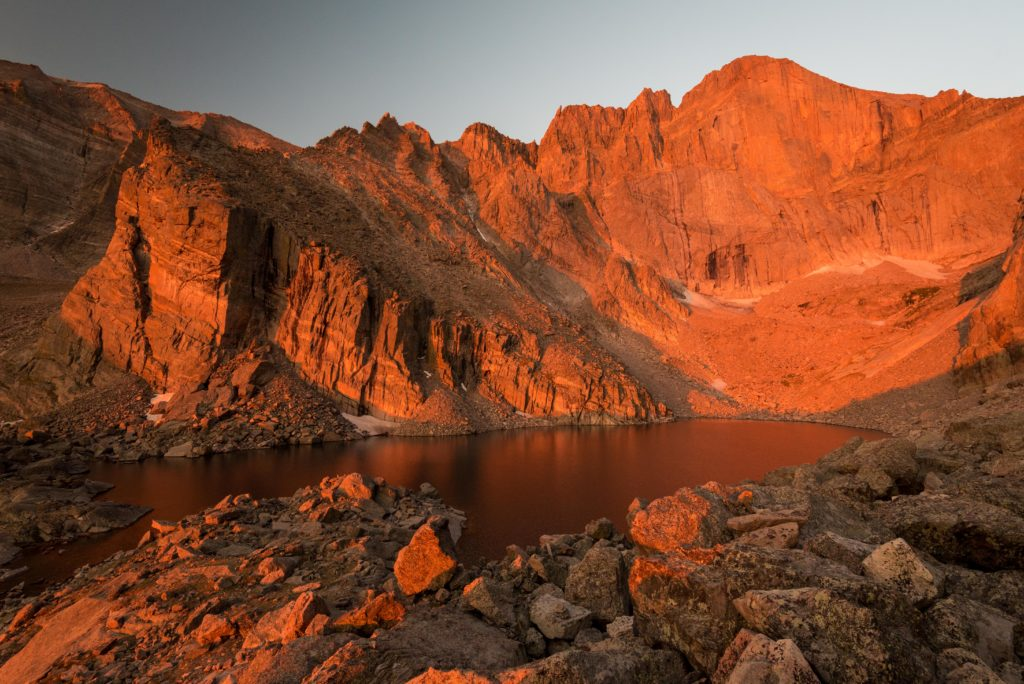 Chasm Lake after Daybreak