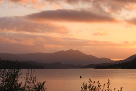 Sunset over Loch Venachar